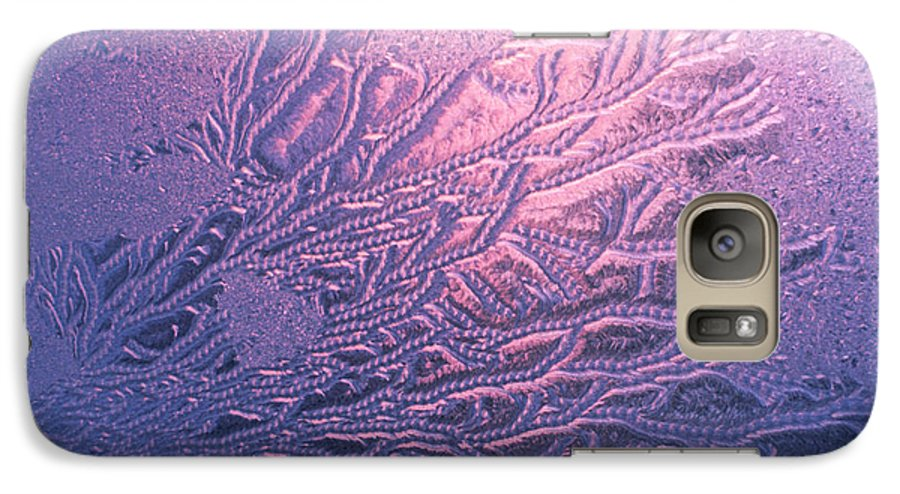 Frost Galaxy S7 Case featuring the photograph Jack Frost Window At Dawn by Anna Lisa Yoder