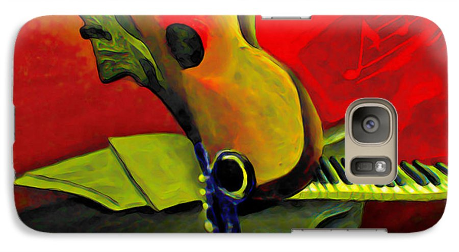 Abstract Galaxy S7 Case featuring the painting Jazz Infusion by Fli Art