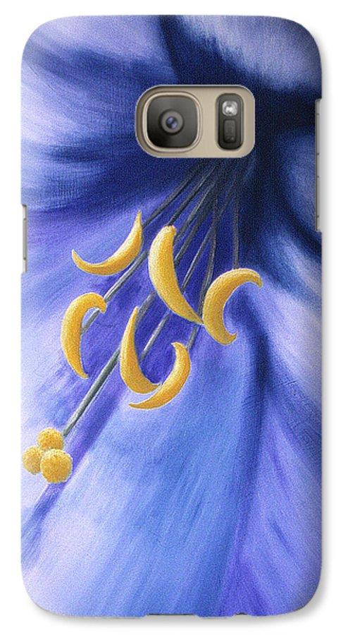 Blue Galaxy S7 Case featuring the painting Joy by Christina Rahm Galanis
