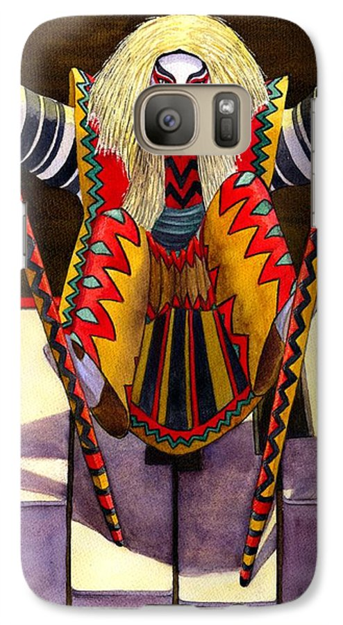 Kabuki Galaxy S7 Case featuring the painting Kabuki Chopsticks 1 by Catherine G McElroy
