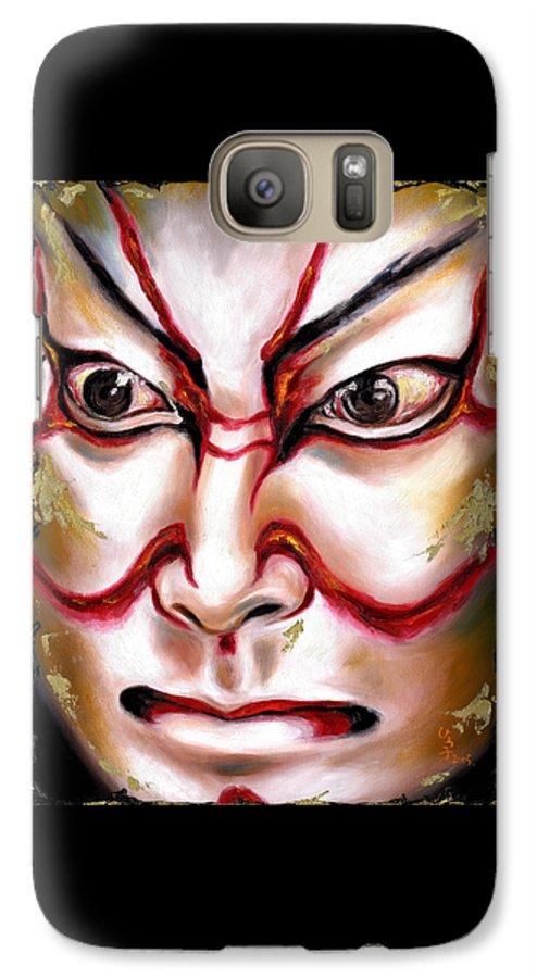 Kabuki Galaxy S7 Case featuring the painting Kabuki One by Hiroko Sakai