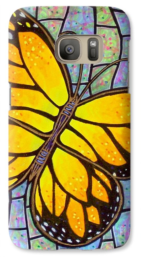 Butterflies Galaxy S7 Case featuring the painting Karens Butterfly by Jim Harris
