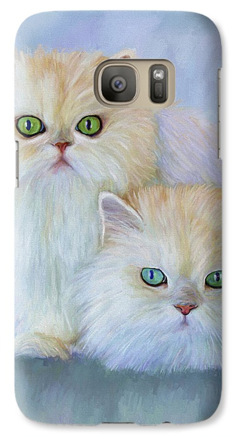Cat Galaxy S7 Case featuring the painting Katrina And Bjorn by David Wagner