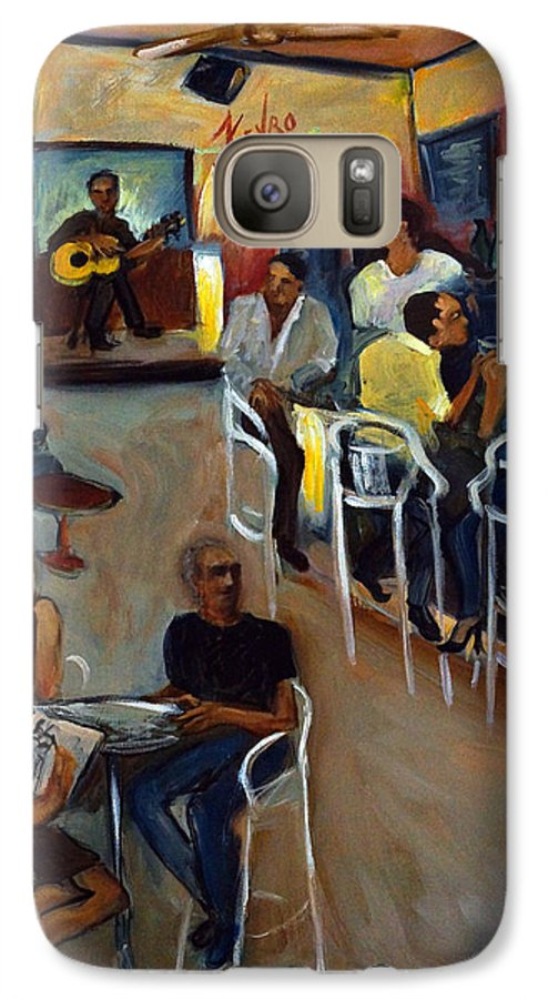Art Bar Galaxy S7 Case featuring the painting Kevro's Art Bar by Valerie Vescovi