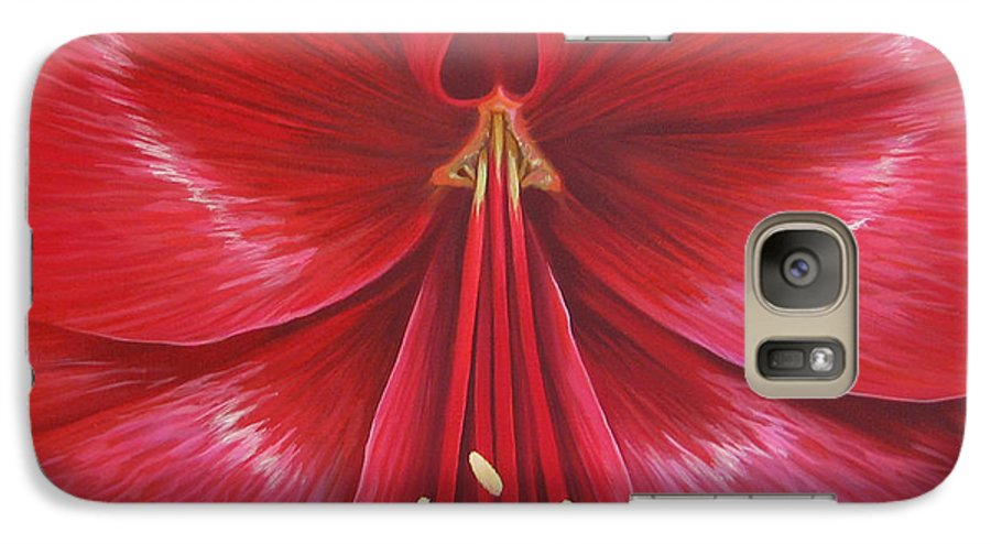 Botanical; Flower Galaxy S7 Case featuring the painting Kiss Of Life by Hunter Jay