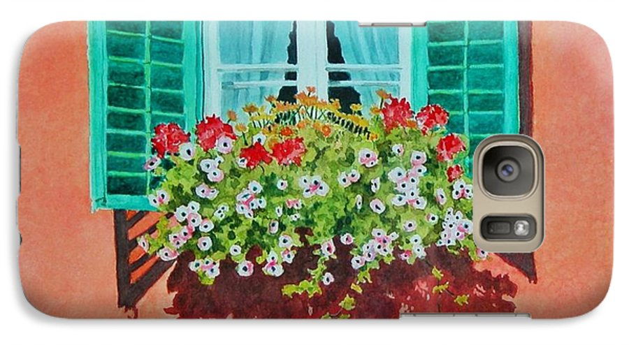 Window Box Galaxy S7 Case featuring the painting Kitzbuhel Window by Mary Ellen Mueller Legault