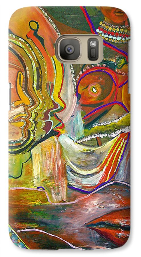 Impressionism Galaxy S7 Case featuring the painting Koulikoro Woman by Peggy Blood