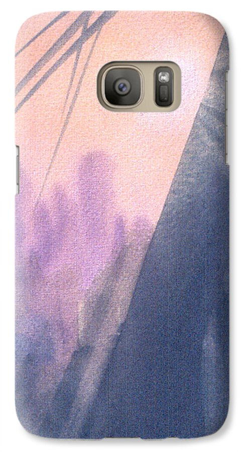 Landscape Galaxy S7 Case featuring the painting La Morning by Christina Rahm Galanis