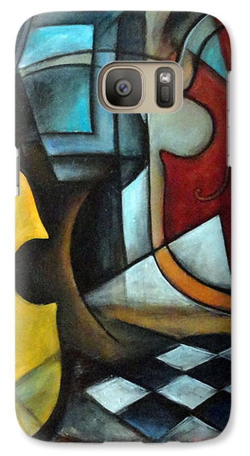 Abstract Galaxy S7 Case featuring the painting La Musique 1 by Valerie Vescovi