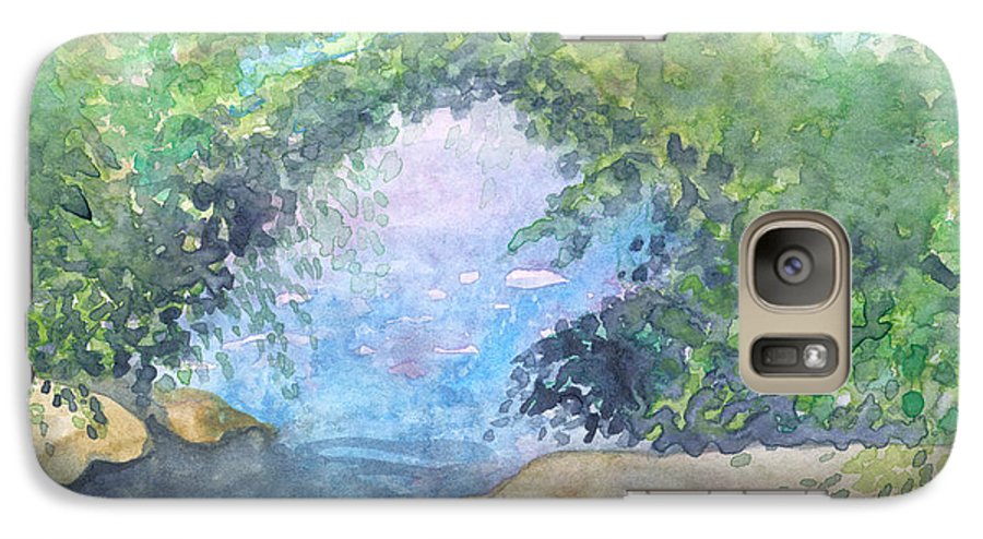 Landscape Galaxy S7 Case featuring the painting Landscape 2 by Christina Rahm Galanis