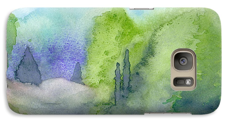 Landscape Galaxy S7 Case featuring the painting Landscape 3 by Christina Rahm Galanis