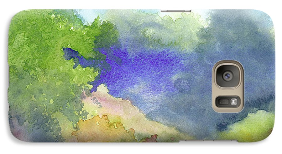 Landscape Galaxy S7 Case featuring the painting Landscape 5 by Christina Rahm Galanis