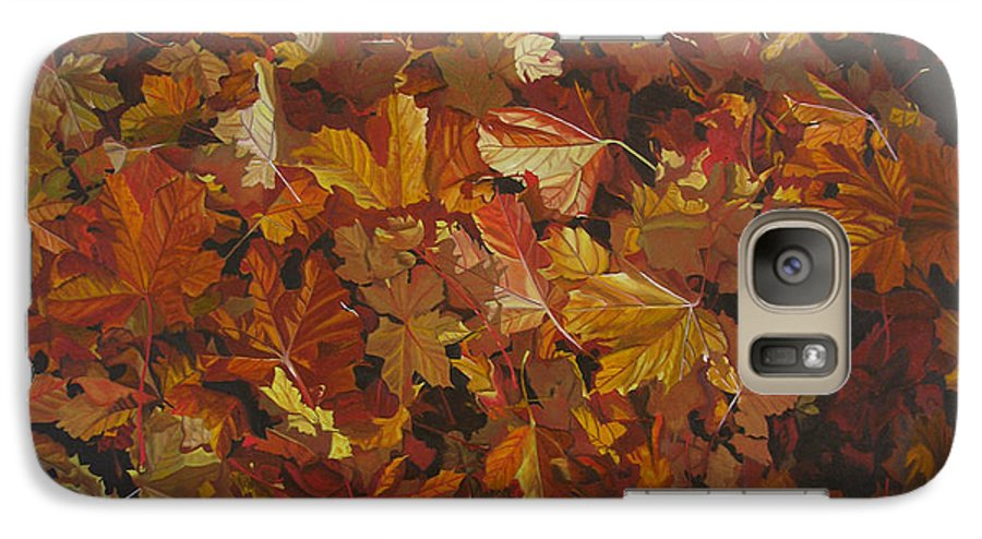 Fall Galaxy S7 Case featuring the painting Last Fall In Monroe by Thu Nguyen