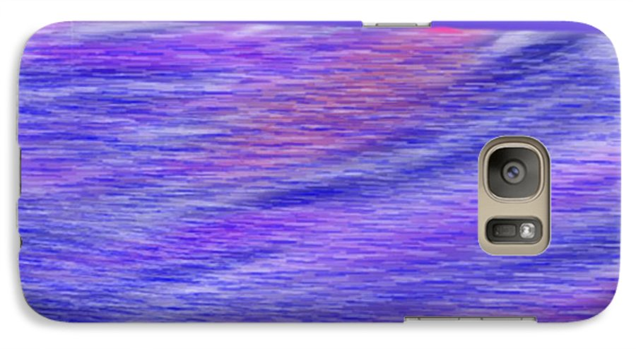 Sky.stars.sea.reflection.waves.evening.rest.silence. Galaxy S7 Case featuring the digital art Last Ray Of Sun by Dr Loifer Vladimir