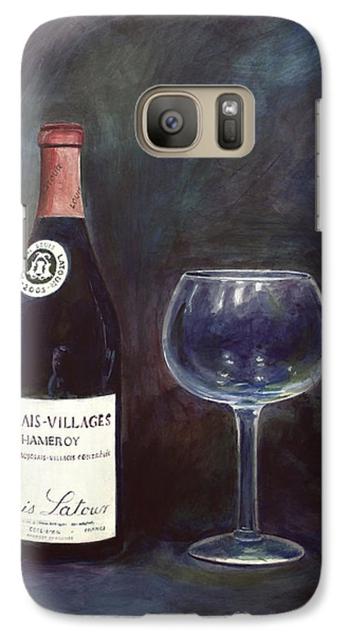 Lime Painting Galaxy S7 Case featuring the painting Latour Wine Buon Fresco 3 Primary Pigments by Don Jusko