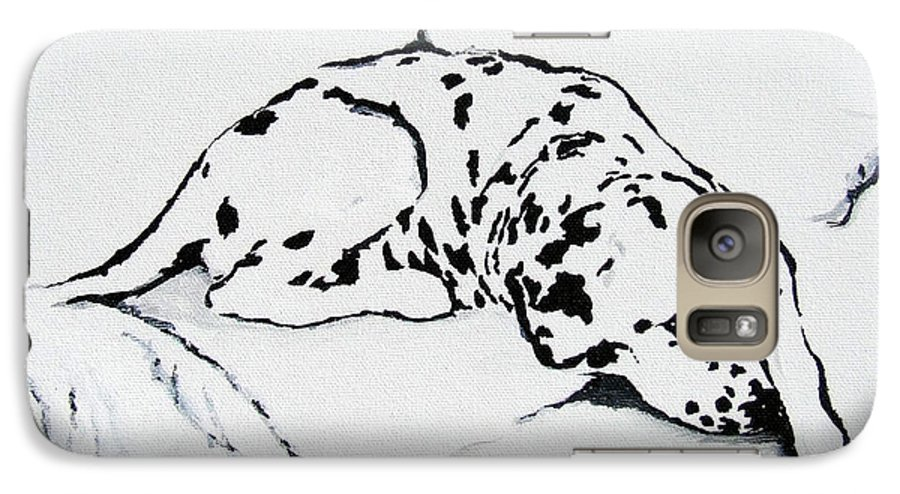 Dogs Galaxy S7 Case featuring the painting Lazy Day by Jacki McGovern