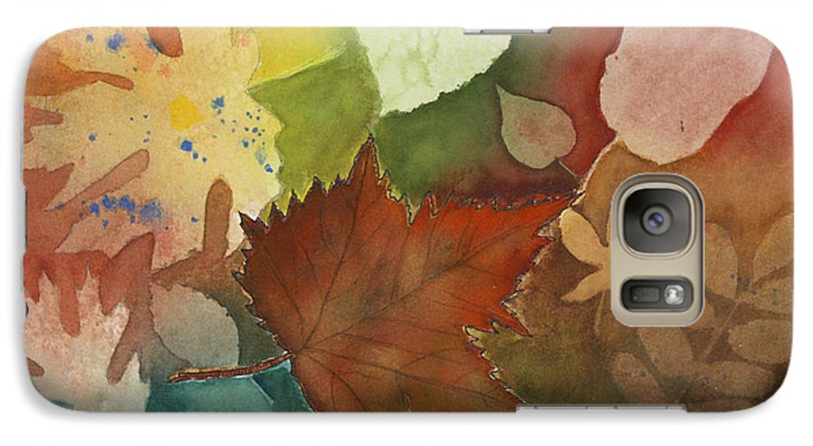 Leaves Galaxy S7 Case featuring the painting Leaves Vl by Patricia Novack