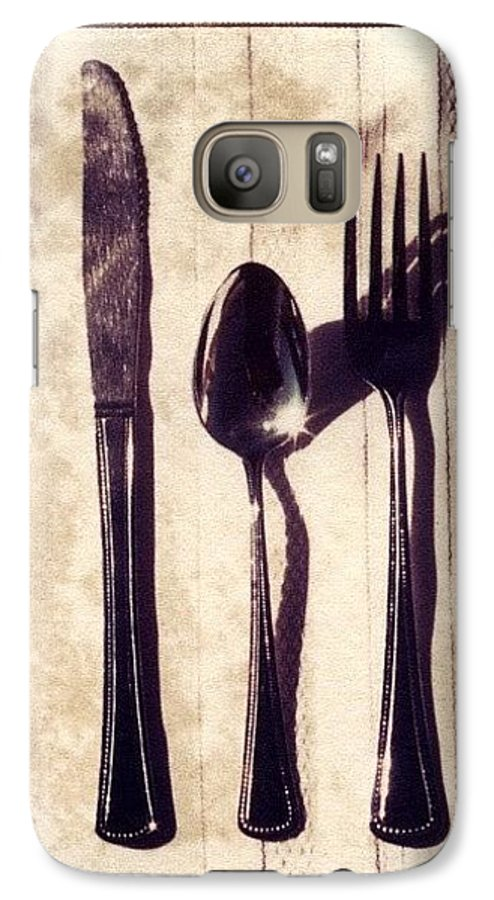 Forks Galaxy S7 Case featuring the photograph Lets Eat by Jane Linders