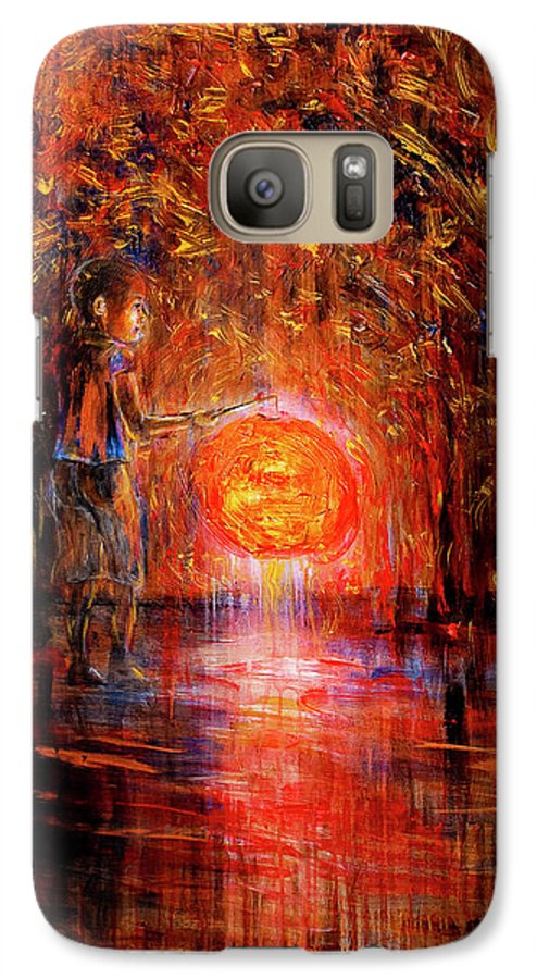 Lantern Galaxy S7 Case featuring the painting Light by Nik Helbig
