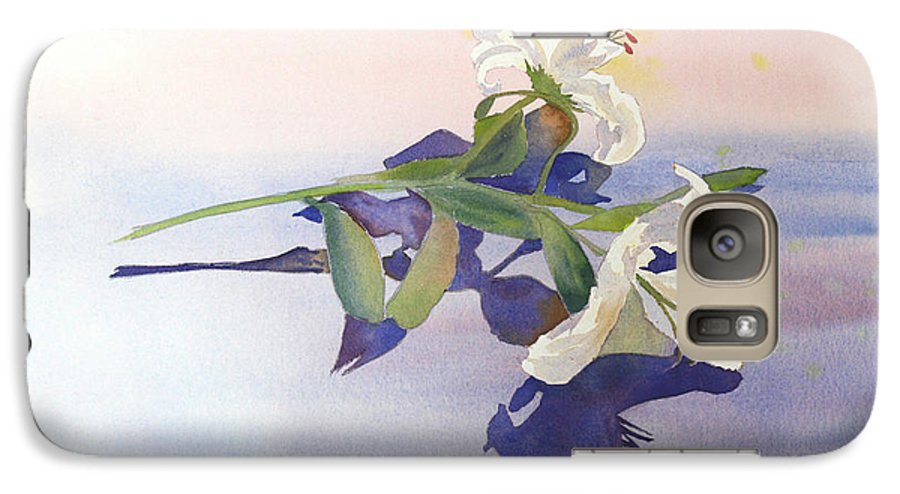 Lily Galaxy S7 Case featuring the painting Lilies At Rest by Patricia Novack