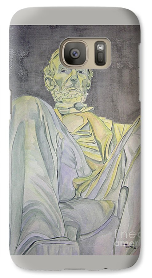 Presidents Galaxy S7 Case featuring the painting Lincoln by Regan J Smith