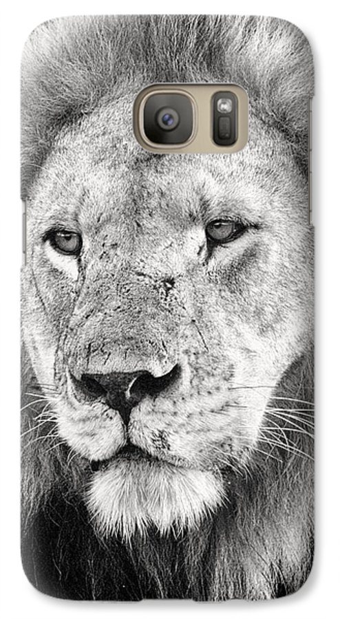 3scape Galaxy S7 Case featuring the photograph Lion King by Adam Romanowicz