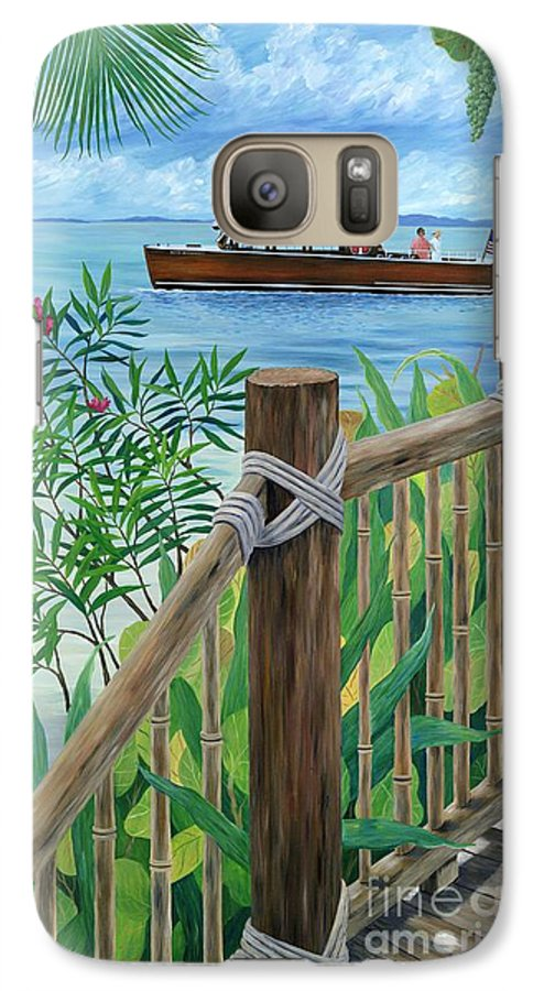 Island Galaxy S7 Case featuring the painting Little Palm Island by Danielle Perry