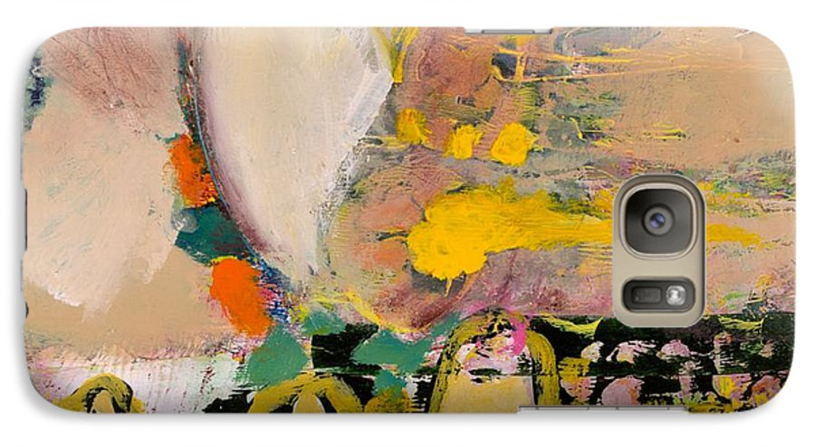 Landscape Galaxy S7 Case featuring the painting Locomotion by Allan P Friedlander