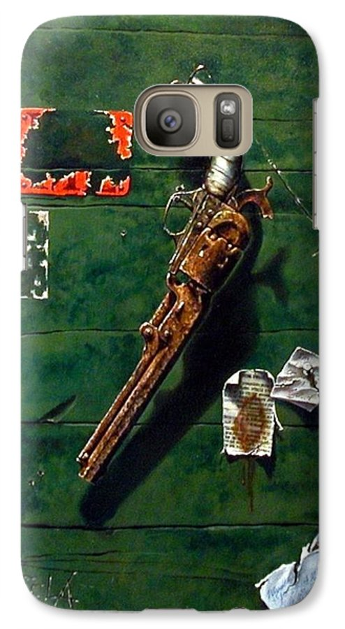Trompe Le Oil Galaxy S7 Case featuring the painting Lost And Found by Jim Gola