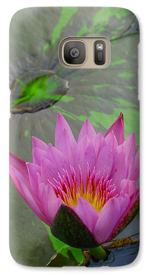 Lotus Galaxy S7 Case featuring the photograph Lotus Blossom by Suzanne Gaff
