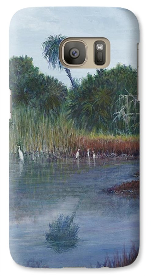 Landscape Galaxy S7 Case featuring the painting Low Country Social by Ben Kiger
