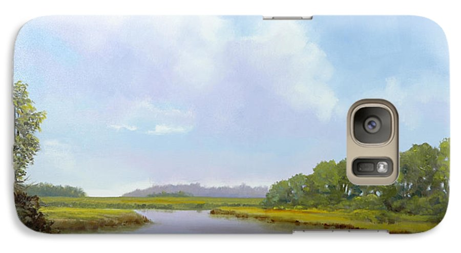 St. Simons Galaxy S7 Case featuring the painting Lowcountry Afternoon by Glenn Secrest