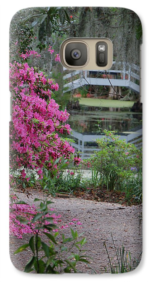 Garden Galaxy S7 Case featuring the photograph Lowcountry Series II - Ode To Monet by Suzanne Gaff