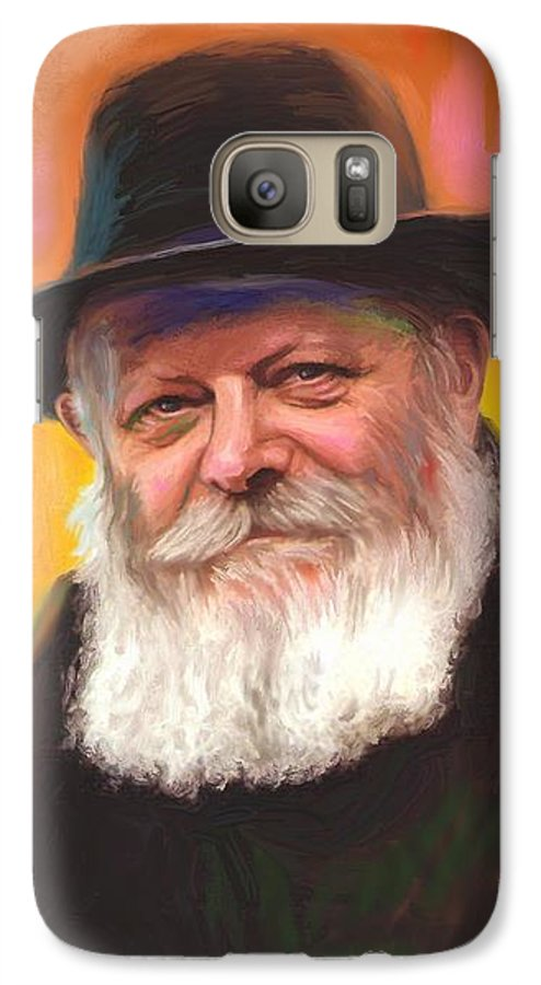 Lubavitcher Rebbe Galaxy S7 Case featuring the painting Lubavitcher Rebbe by Sam Shacked