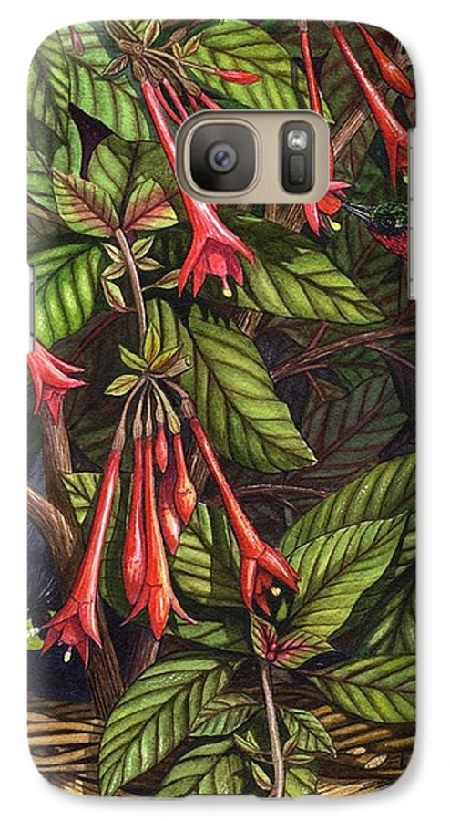 Fuchsia Galaxy S7 Case featuring the painting Lurking by Catherine G McElroy
