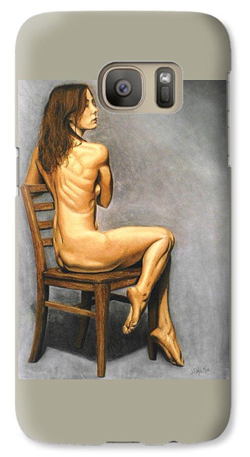 Joe Ogle Galaxy S7 Case featuring the pastel Madame Brooke by Joseph Ogle