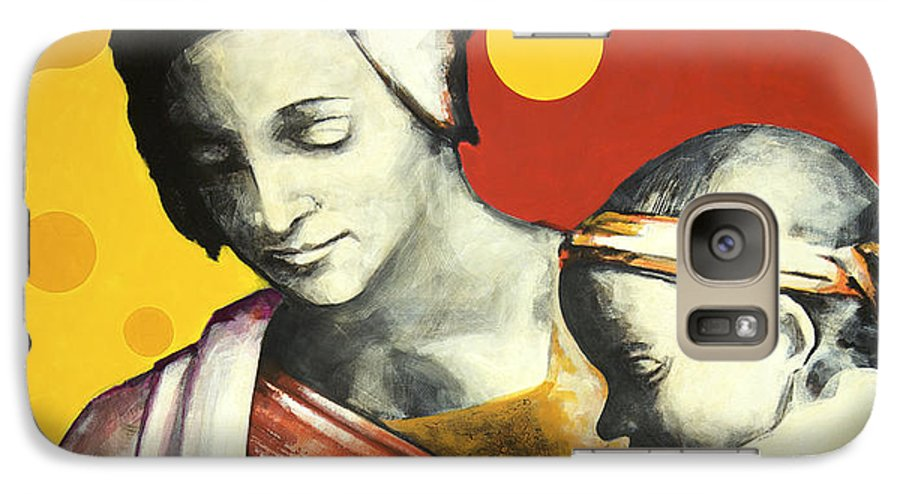 Figurative Galaxy S7 Case featuring the painting Madona by Jean Pierre Rousselet