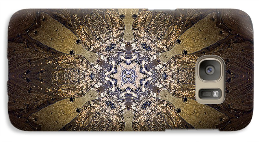 Mandala Galaxy S7 Case featuring the photograph Mandala Sand Dollar At Wells by Nancy Griswold