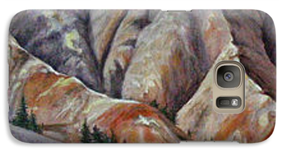 Mountains Galaxy S7 Case featuring the painting Marble Ridge by Elaine Booth-Kallweit