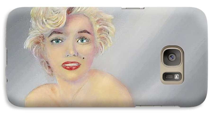 Marilyn Monroe Galaxy S7 Case featuring the painting Marilyn by Tony Rodriguez