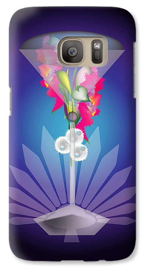 Martini Galaxy S7 Case featuring the digital art Martini Flower by George Pasini