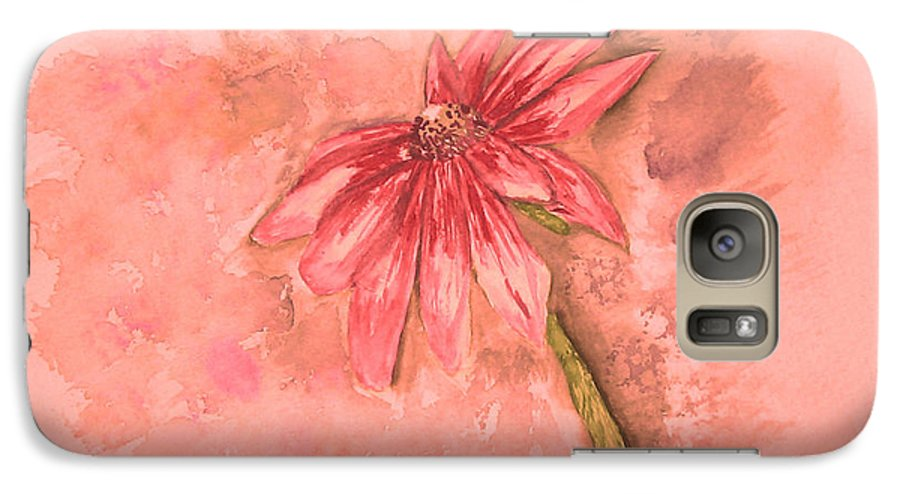 Watercolor Galaxy S7 Case featuring the painting Melancholoy by Crystal Hubbard