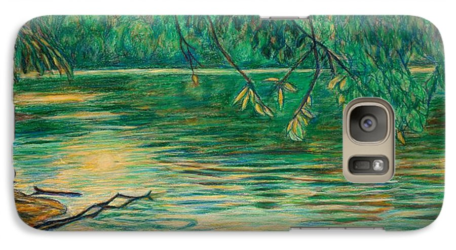 Landscape Galaxy S7 Case featuring the painting Mid-spring On The New River by Kendall Kessler