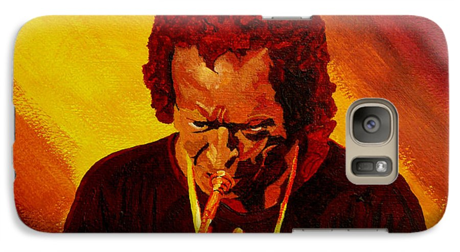 Miles Davis Galaxy S7 Case featuring the painting Miles Davis Jazz Man by Anthony Dunphy
