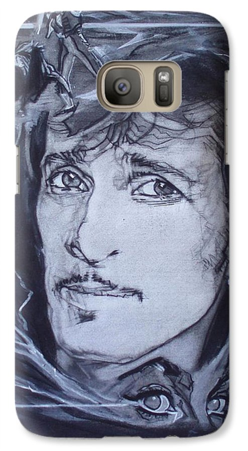 Charcoal;mink Deville;new York City;gina Lollabrigida Eyes ;cat Eyes;bullfight;toreador;swords;death;smoke;blues Galaxy S7 Case featuring the drawing Mink Deville - Coup De Grace by Sean Connolly