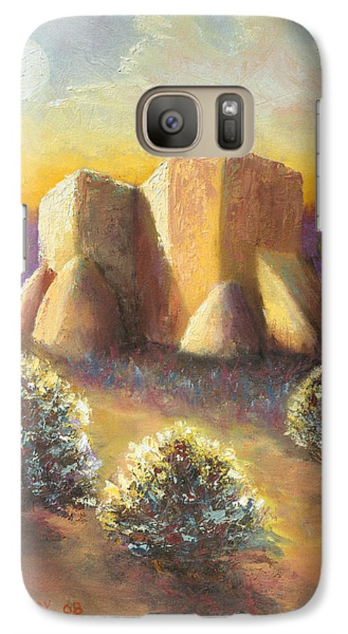 Landscape Galaxy S7 Case featuring the painting Mission Imagined by Jerry McElroy