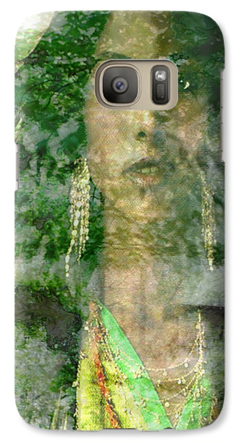 American Indian Galaxy S7 Case featuring the digital art Mistress Of The Wind by Seth Weaver