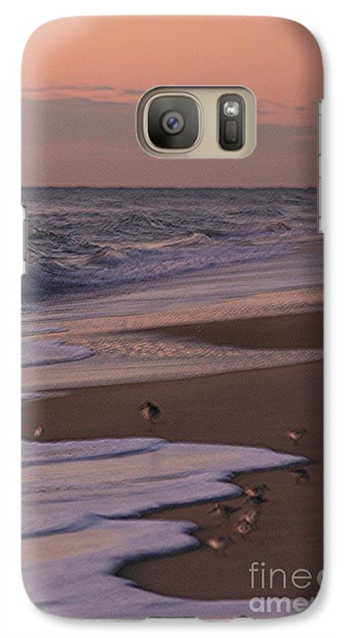 Beach Galaxy S7 Case featuring the photograph Morning Birds At The Beach by Nadine Rippelmeyer