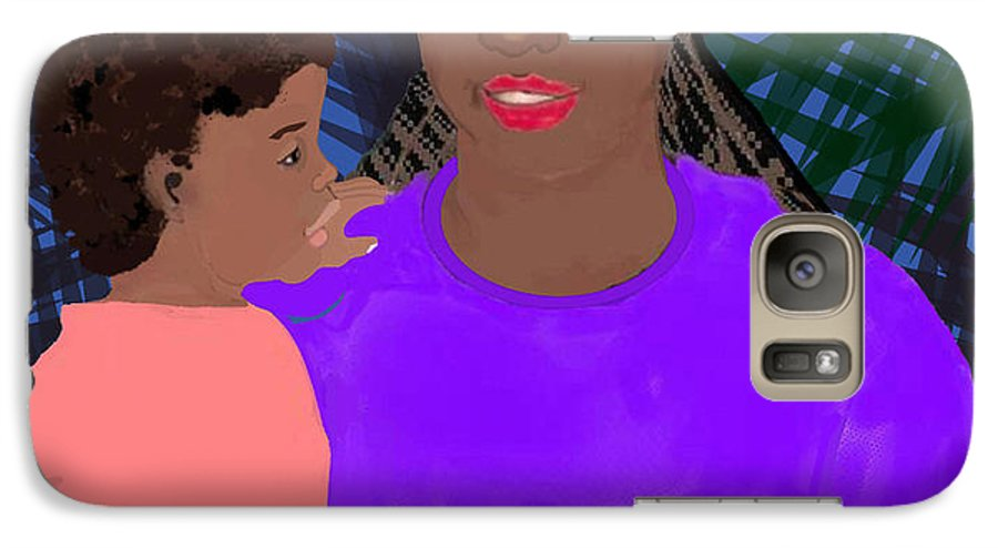 Mother Galaxy S7 Case featuring the painting Mother And Daughter by Pharris Art