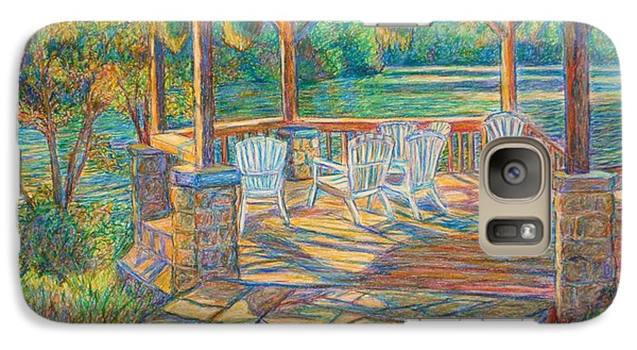 Lake Galaxy S7 Case featuring the painting Mountain Lake Shadows by Kendall Kessler